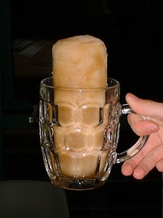 пиво замерзлоо на морозе фото