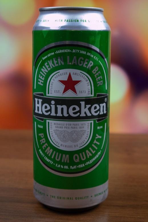 фото баночки пива Хайнекен