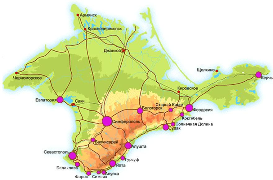 карта виноделия в Крыму фото