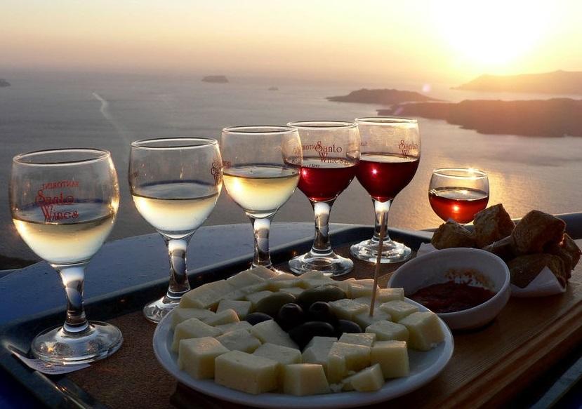 фото греческих вин и закусок