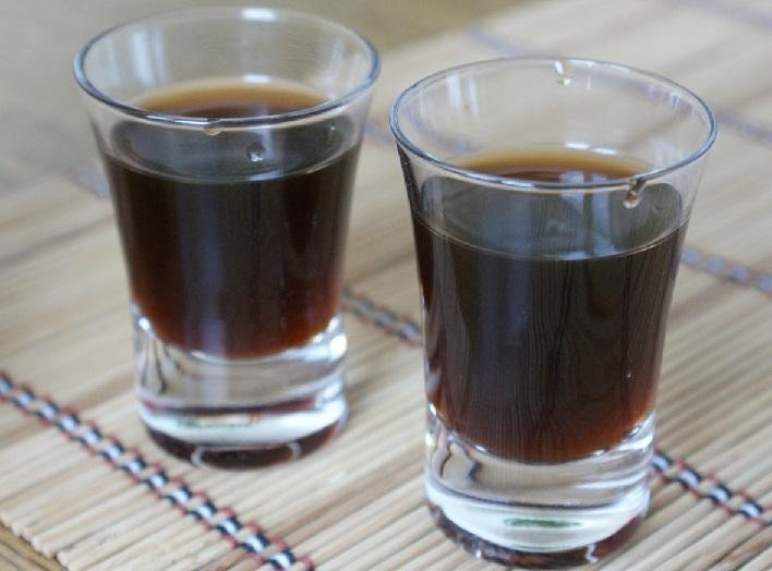 фото настойки водки на корице с кофе