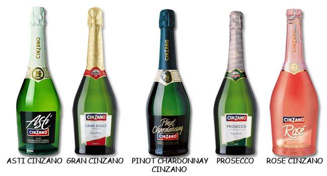 виды шампанского Чинзано