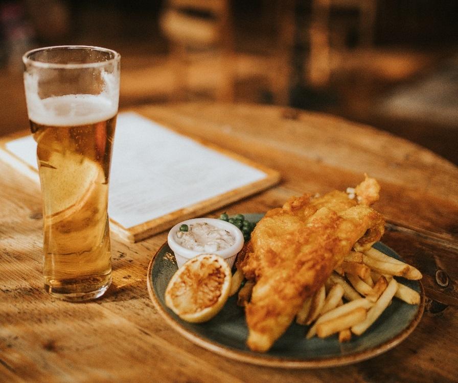 чем закусывают пиво англичане