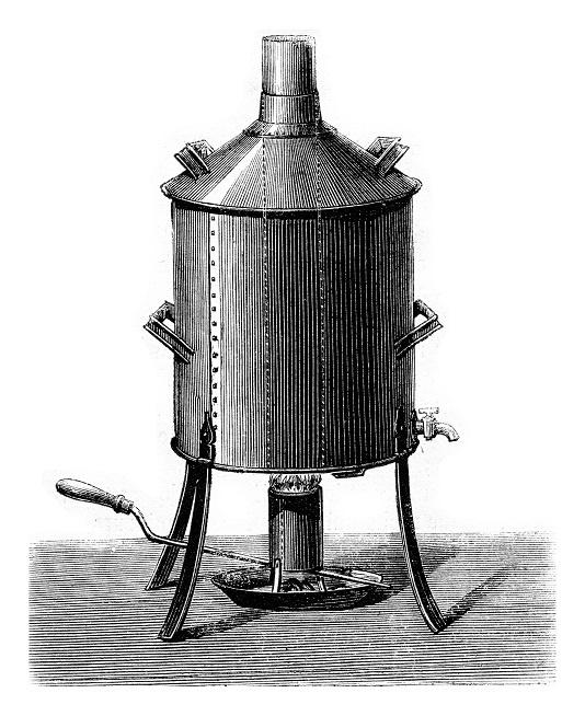 фото древнего аппарата для варки пива