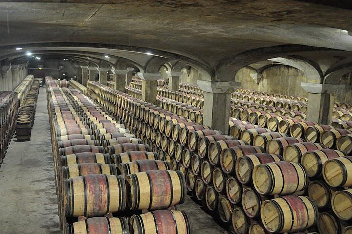 фото выдержки бордосских вин в бочках