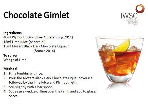 фото коктейля с ликером Моцарт Chocolate Gimlet