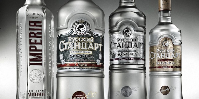фото ассортимента водки русский стандарт