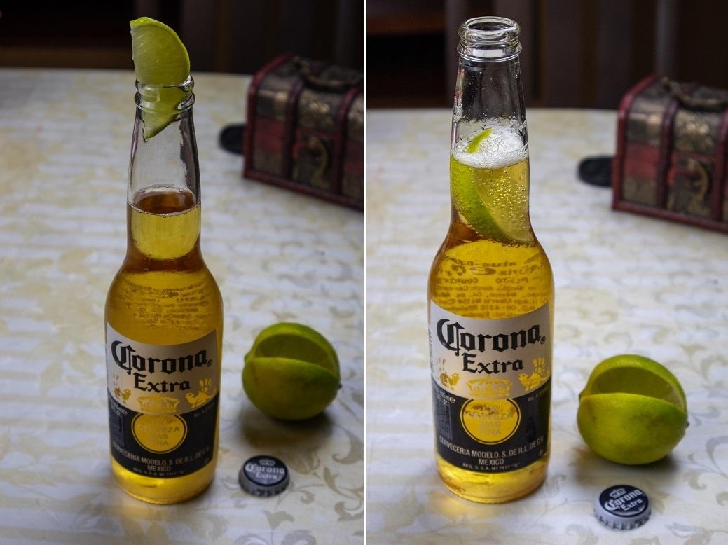 как правильно пить пиво Корона