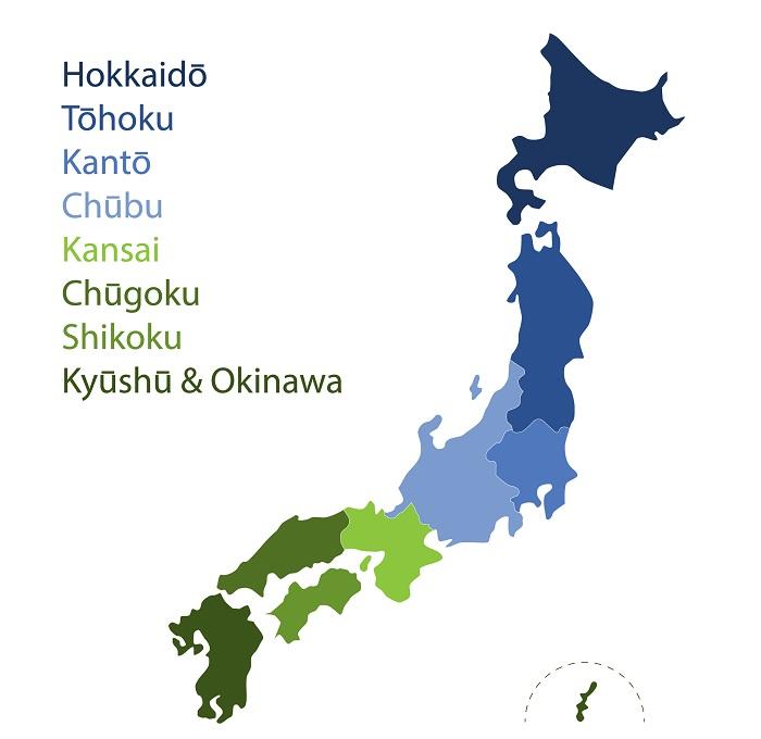 карта японских островов