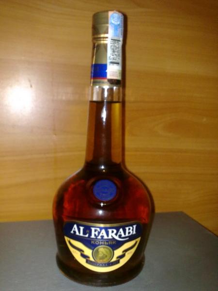 фото бутылки коньяка аль фараби 5 лет выдержки