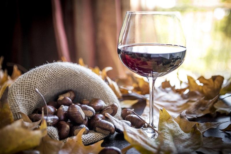 фото вина Новелло с каштанами