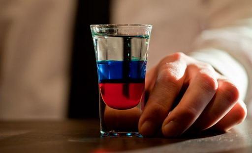 фото коктейля флаг России