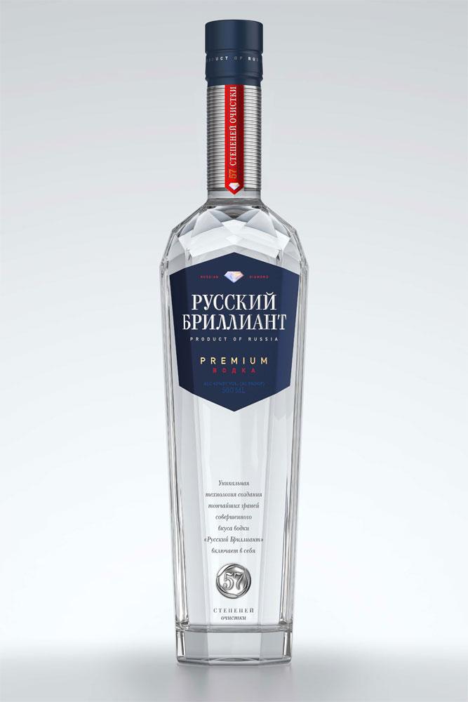 фото бутылки водки русский бриллиант