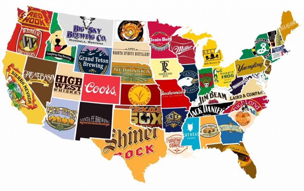 фото пивной карты США