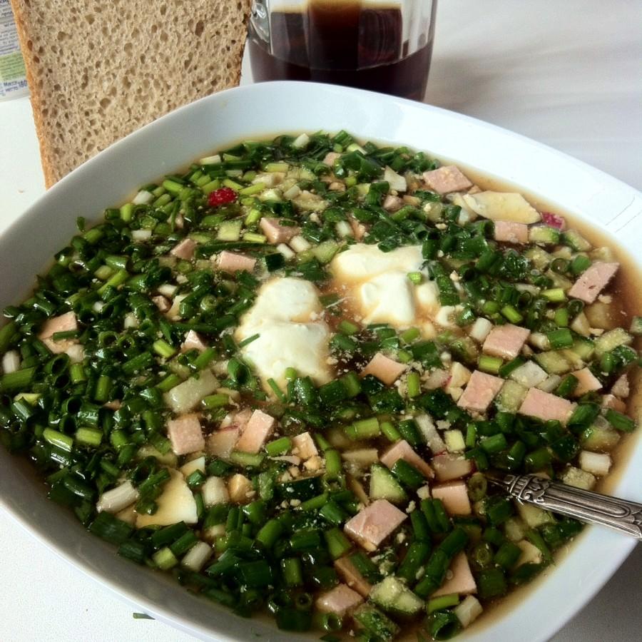 фото готового пивного супа окрошка