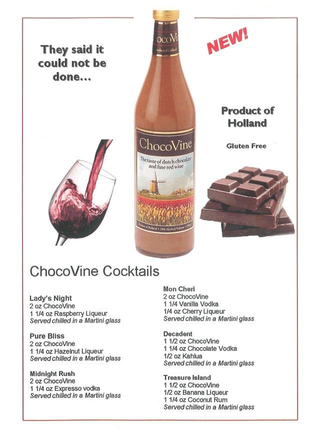 фото коктейлей с шоколадным вином