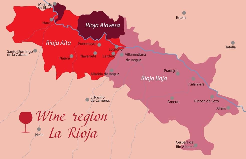 карта производства вин в Риохе