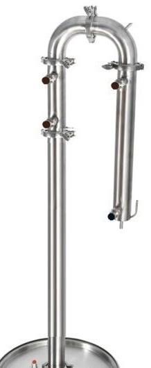 фото колонны с регулировкой подачи воды в дефлегматор