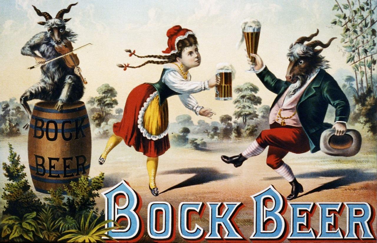 фото немецкого пива с козлом на этикетке