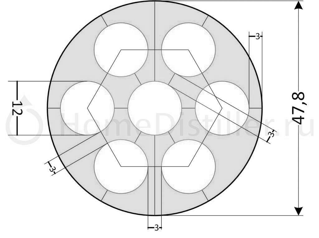 1 чертеж кожухотрубного теплообменника для самогонных аппаратов, бражных и ректификационных колонн