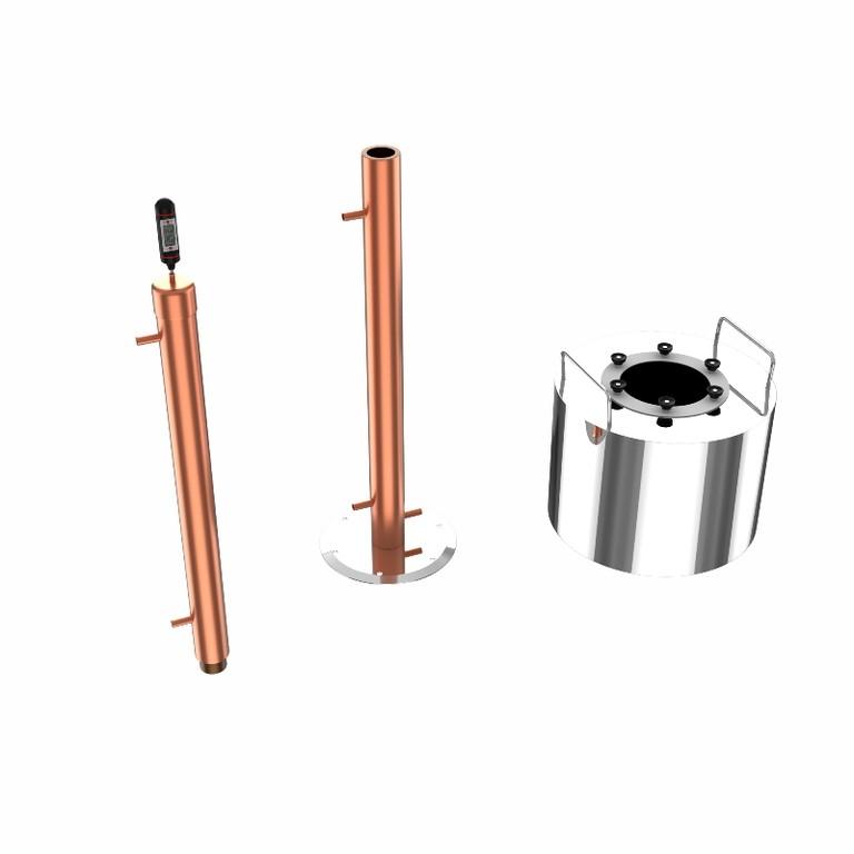 ректификационная колонна Rocket Cuprum and Steel
