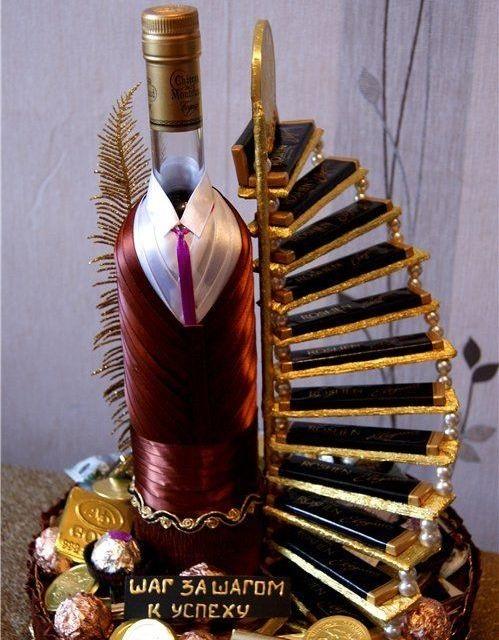 фото корзины с алкоголем в подарок