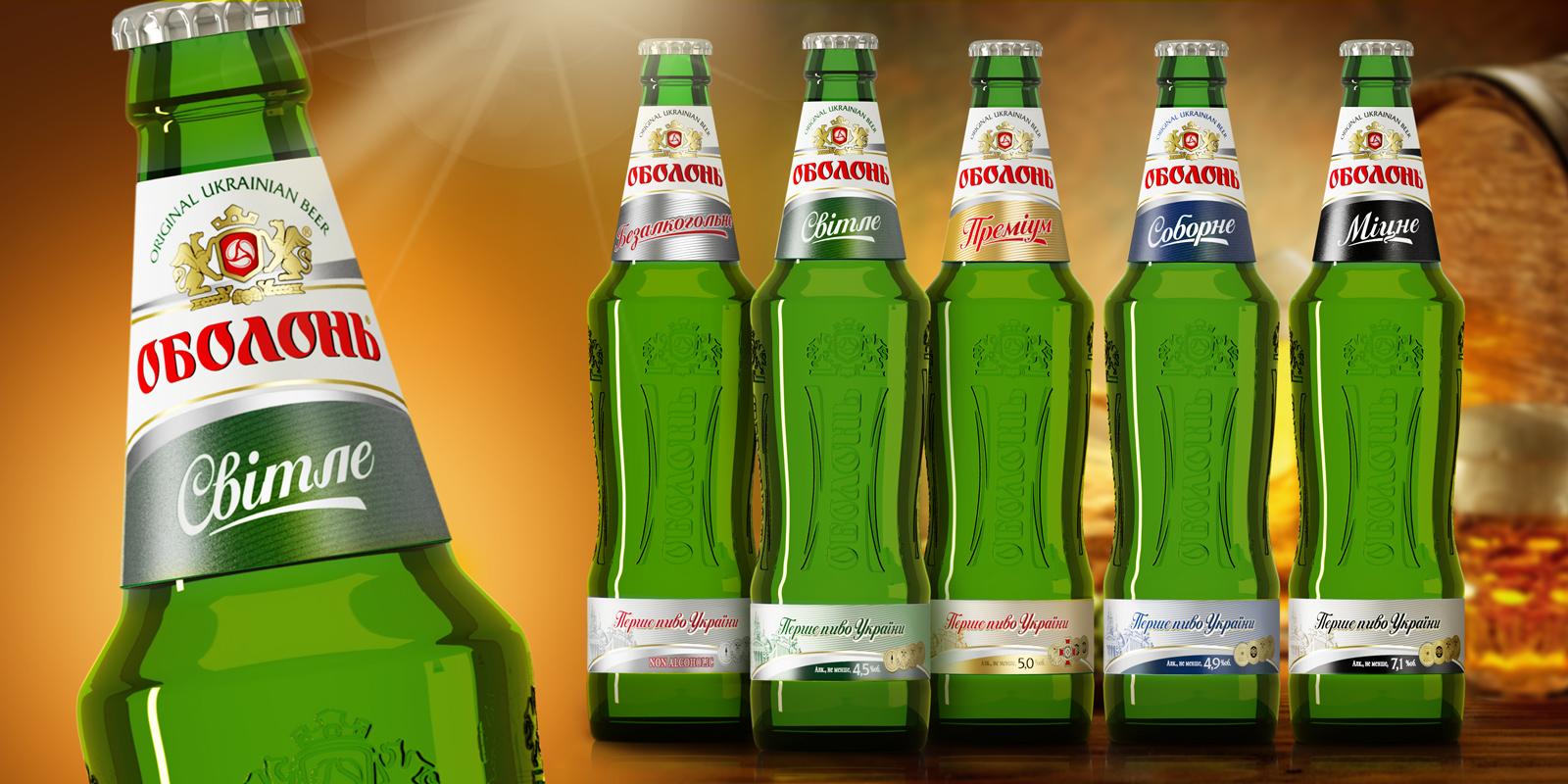 фото видов пива оболонь