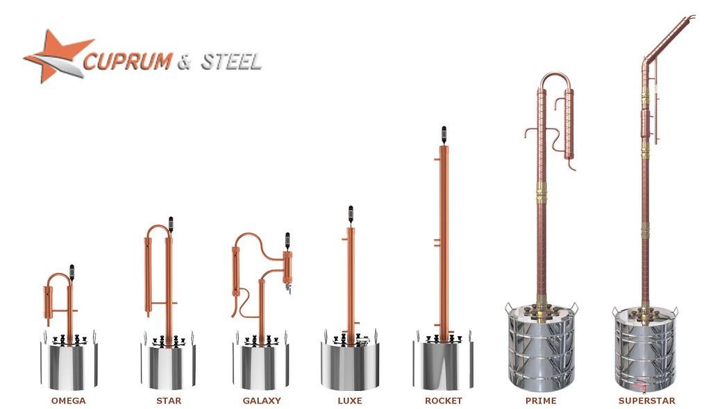 фото ассортимента аппаратов Cuprum and Steel
