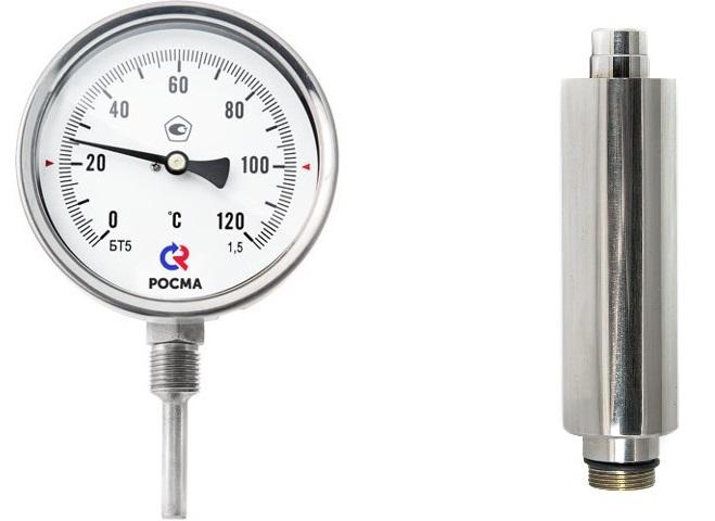фото термометра и гильзы для его установки от брендимастер