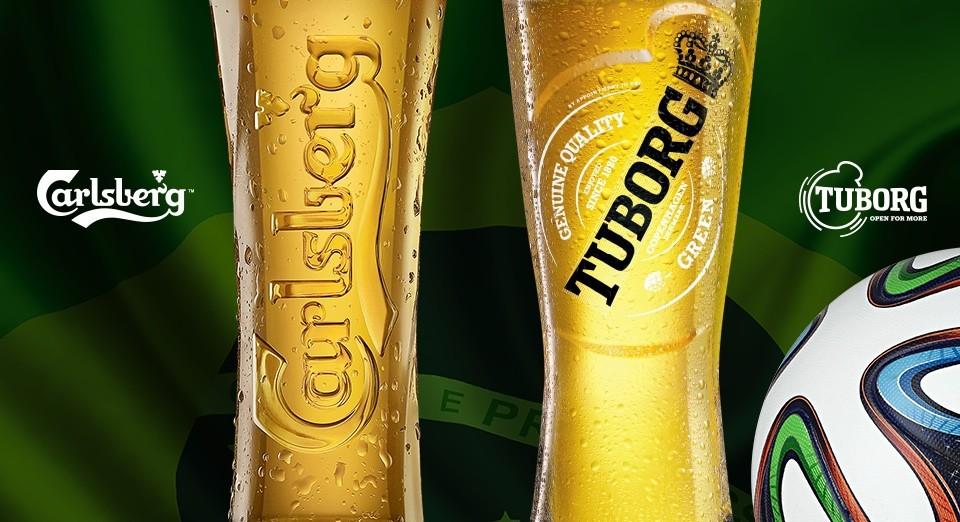 фото датских марок пива Карлсберг и Туборг