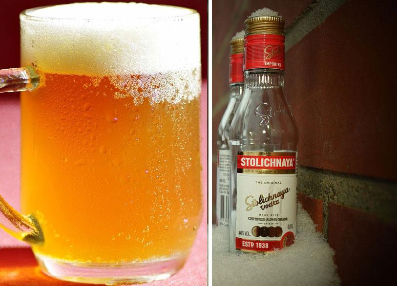 водка с пивом, чтобы быстрее напиться