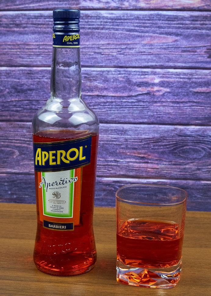 фото бутылки напитка апероль