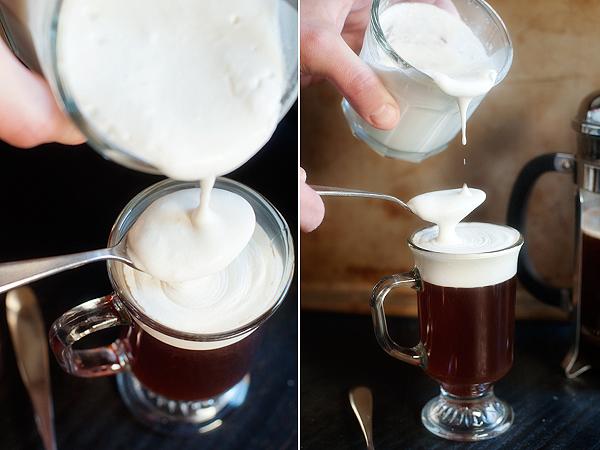 фото как добавлять сливки в кофе по-ирландски