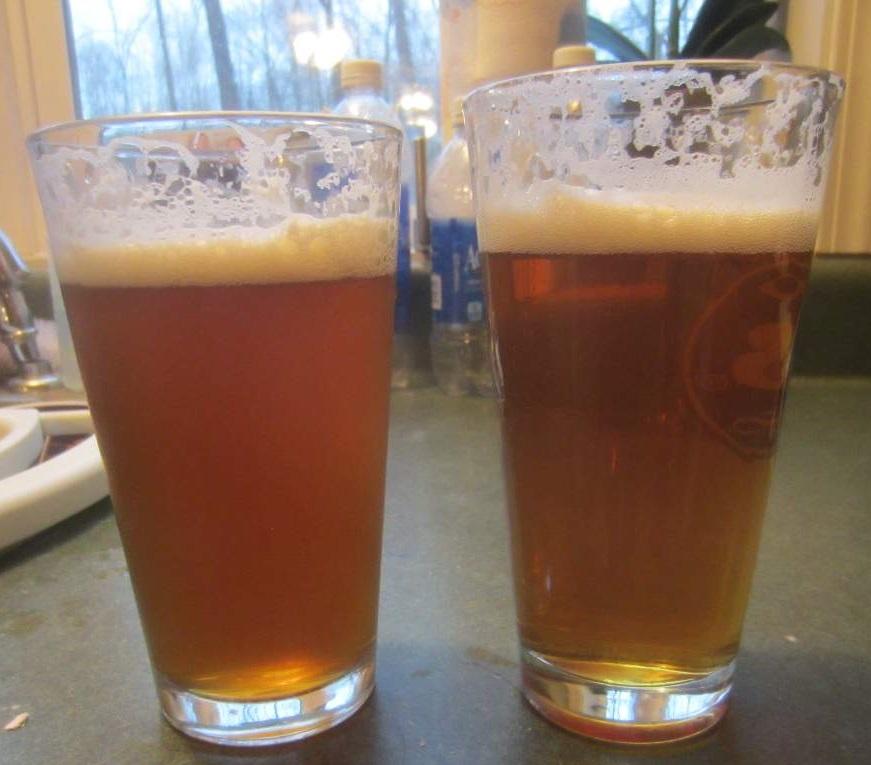 фото пива, осветленного ирландским мхом