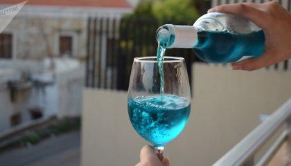 фото голубого вина