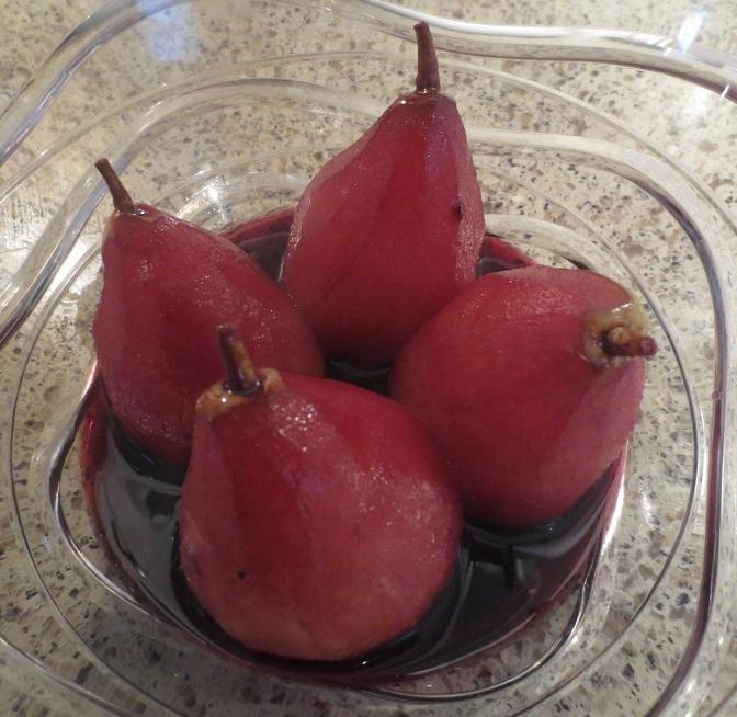 фото десерта груши в вине, сделанного в домашних условиях
