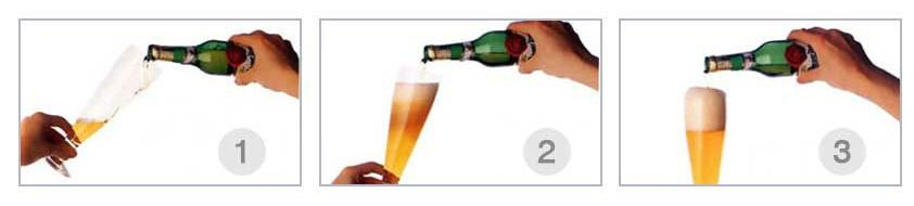 фото как правильно наливать пиво в бокал