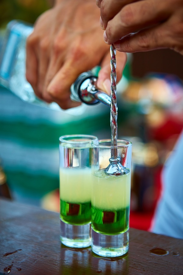 фото коктейля Зеленый мексиканец с ликером Зеленый мексиканец – самый известный коктейль с Пизан Амбон