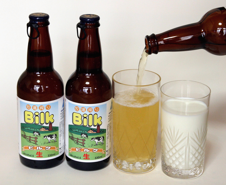 фото пива с молоком Билк