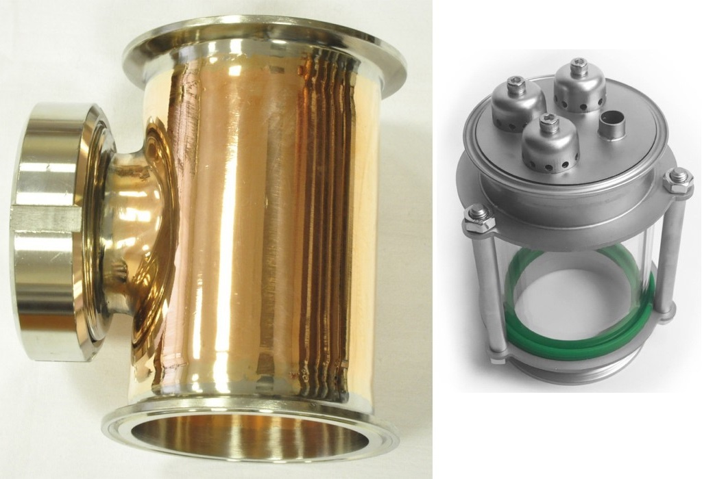фото тарельчатой колонны на базе тройниковых отводов
