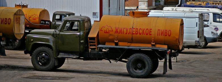 фото как перевозили жигулевское пиво в СССР