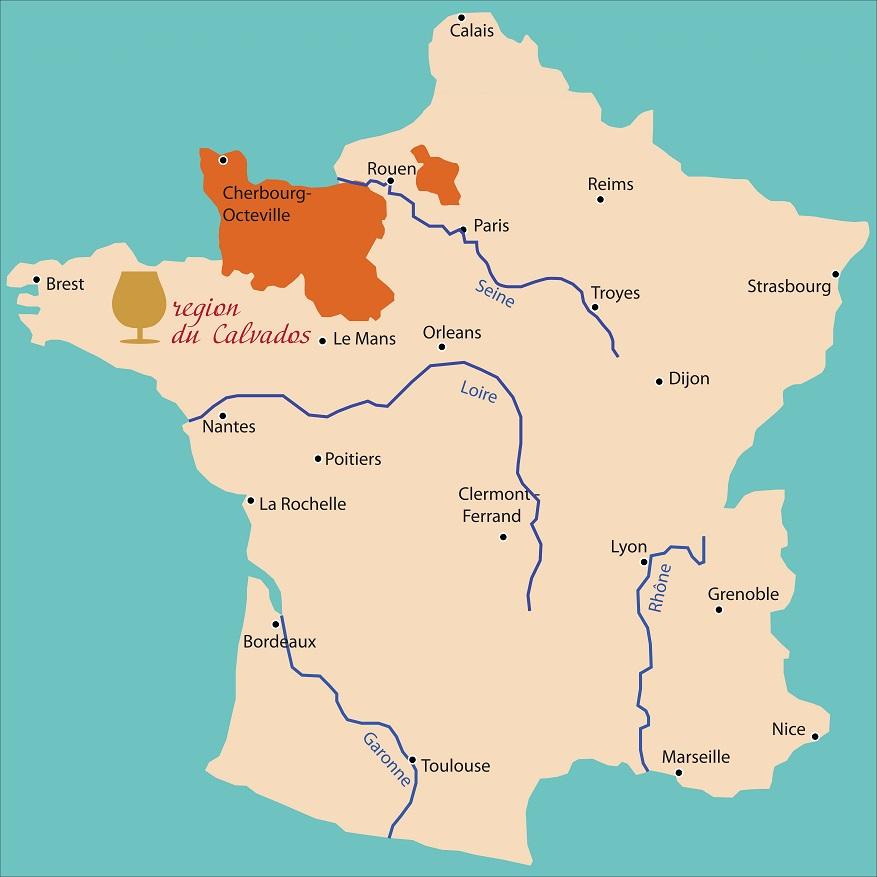карта производства кальвадоса