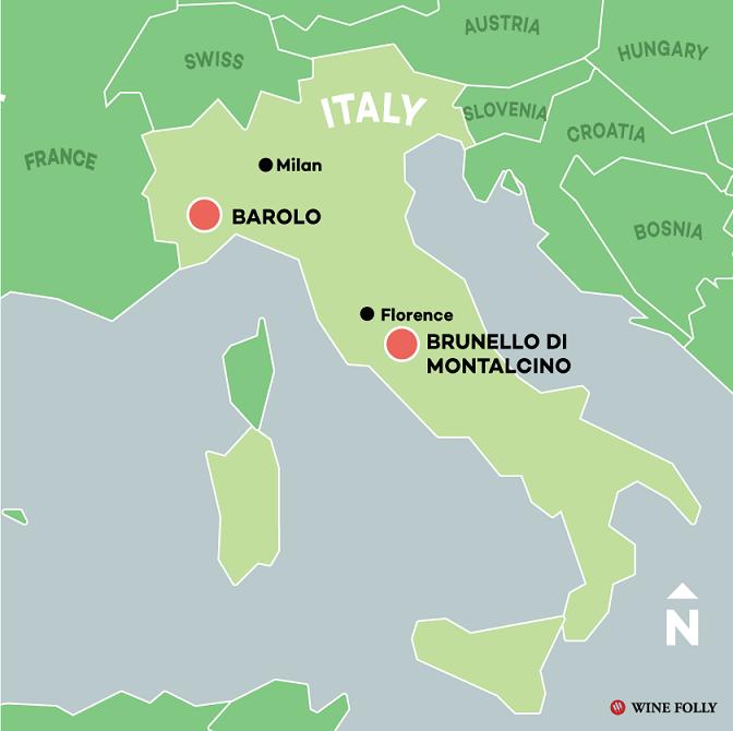 где производят вино Брунелло