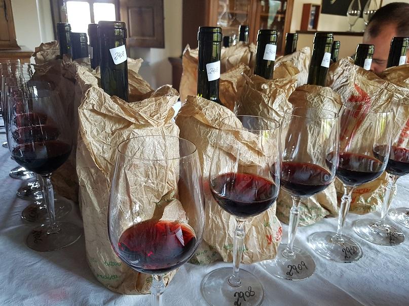 фото красного вина брунелло в бокале