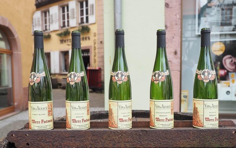 вина Эльзаса в бутылках
