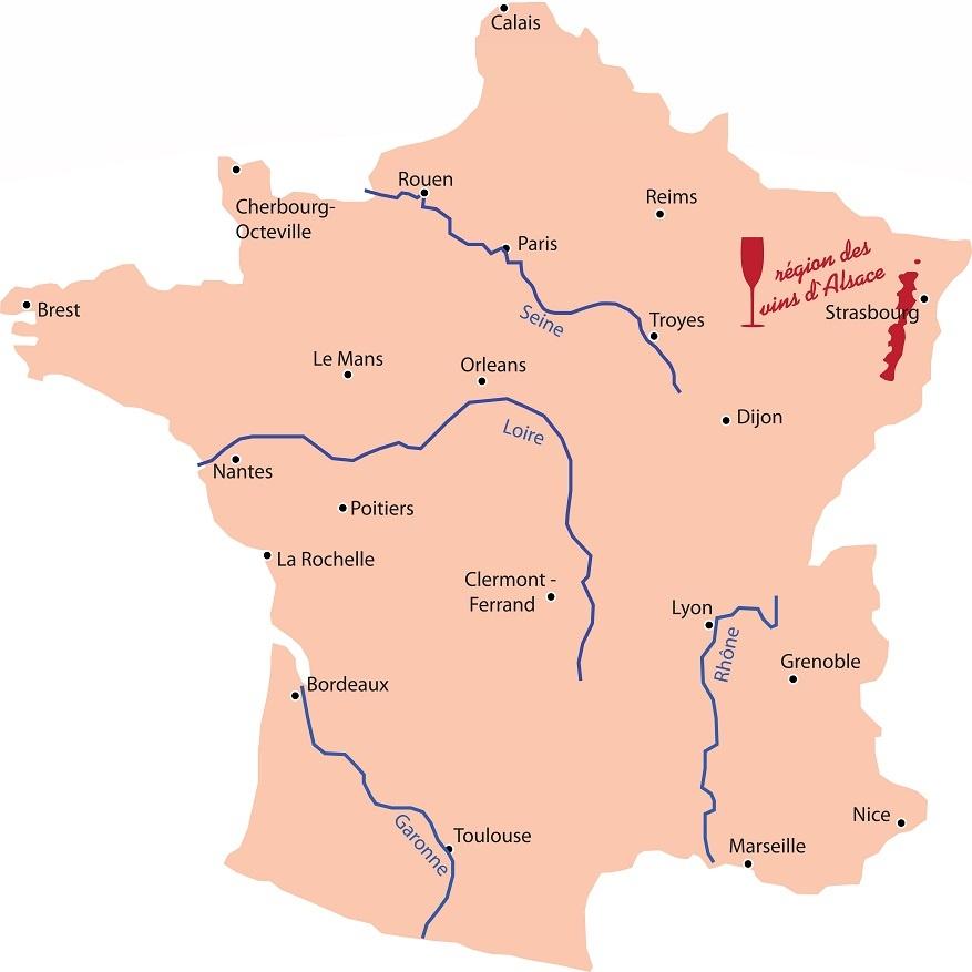 фото Эльзаса на карте Франции