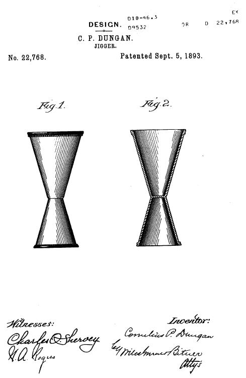 патент джиггера для коктейлей фото