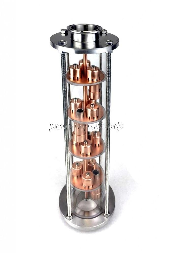 фото тарельчатой колпачковой колонны Булат Ректифай