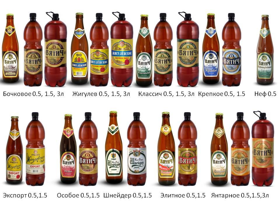 виды пива вятич