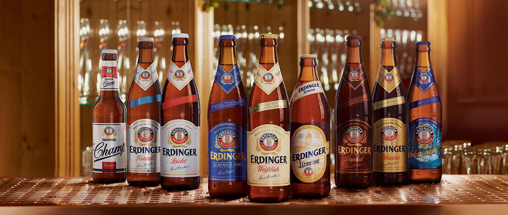 фото ассортимента пива Эрдингер